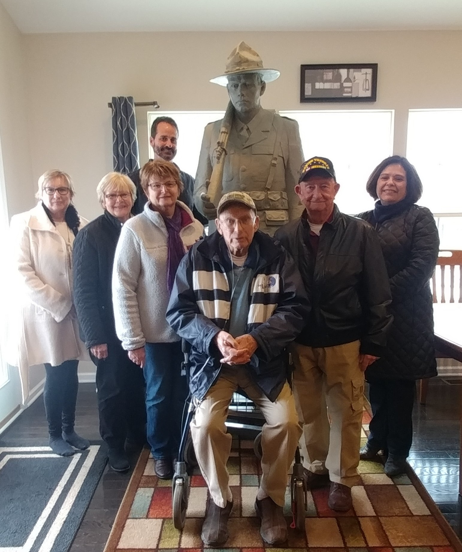 Co F Committee with Sculptor Brian Porter